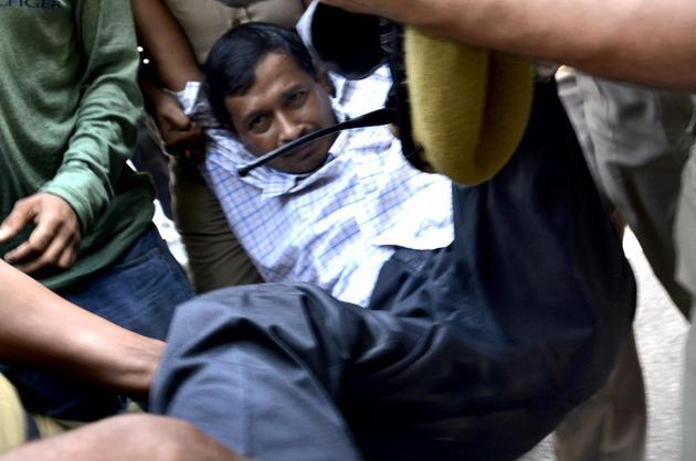 Arvind Kejriwal protests