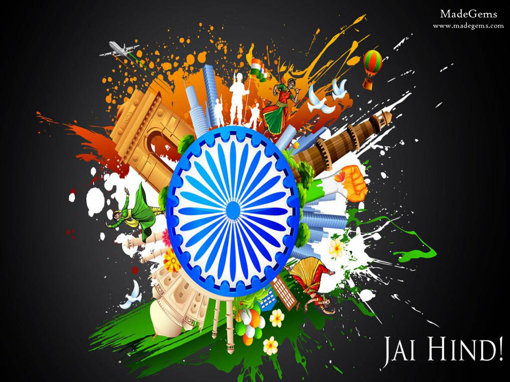 happy 72th independence day of india hd wallpapers with quotes - let