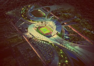 Stadium at Incheon, South Korea.