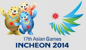 The spotted seals- official mascots of 17th Asian Games.