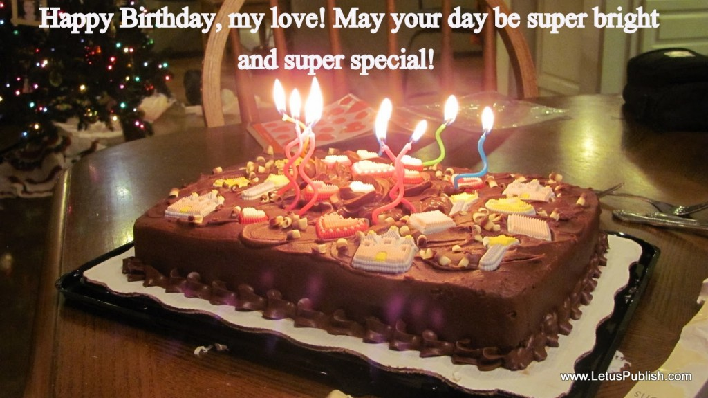 Beautiful Birthday cake wallpaper for love