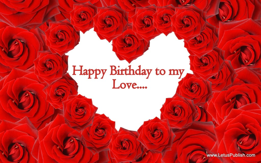 Beautiful Red rose birthday wallpaper