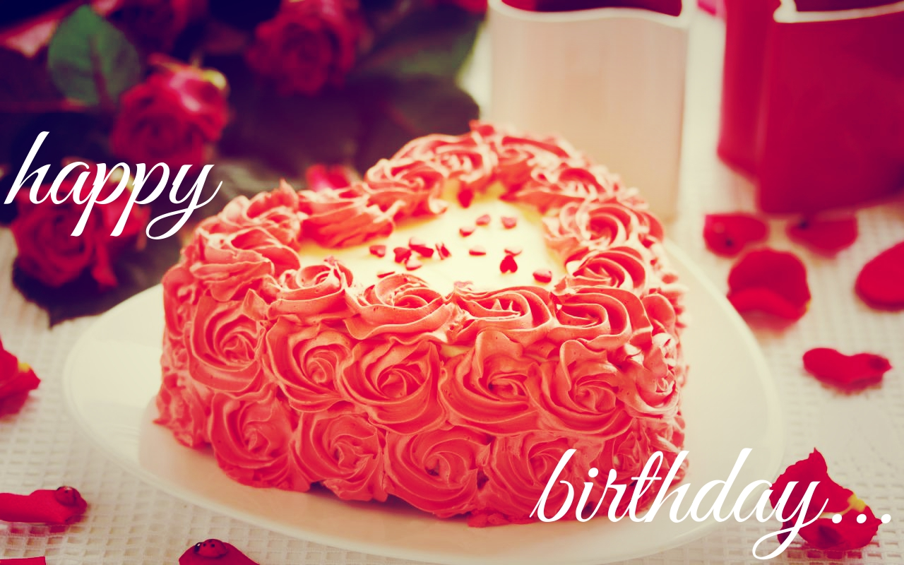 Happy Birthday MY Love Cake HD Wallpaper