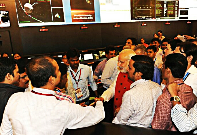 Celebration at ISRO