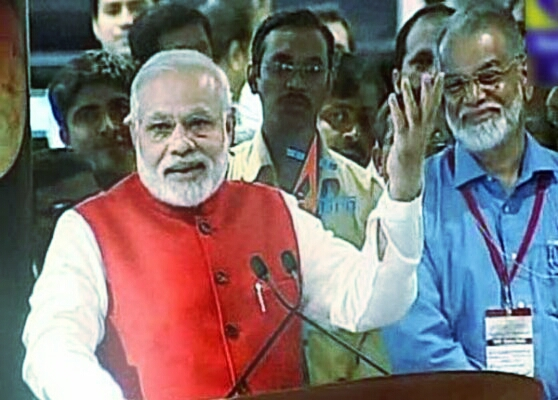 Narendra Modi with V.Adimurthy