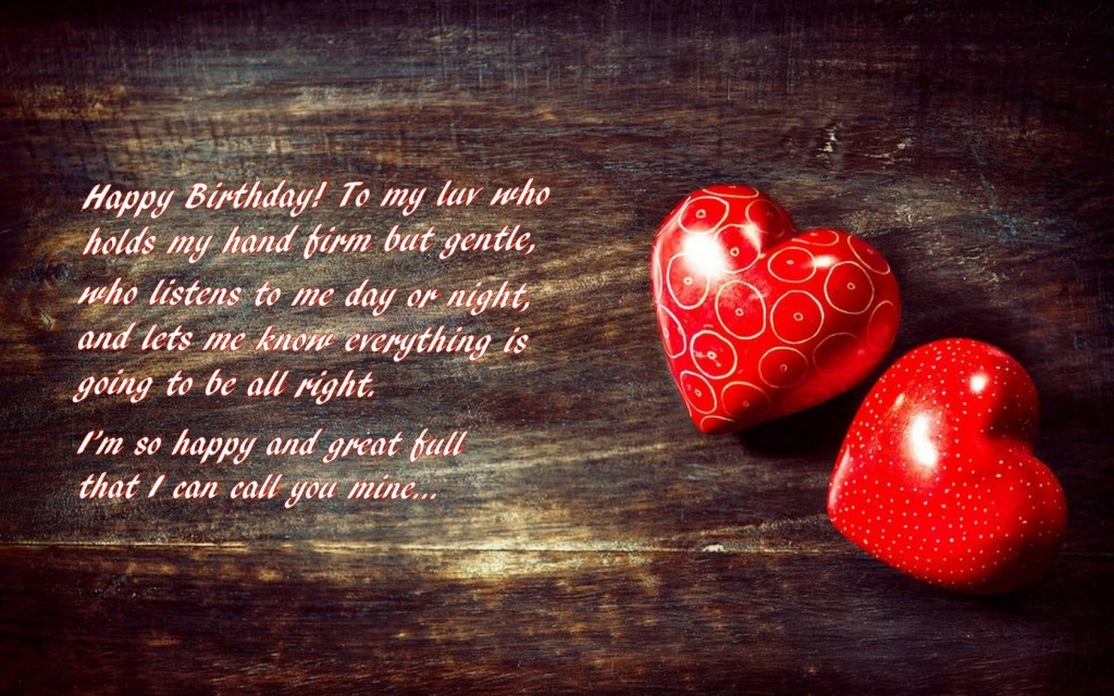 Love Sayings Quotes wallpaper on his Birthday