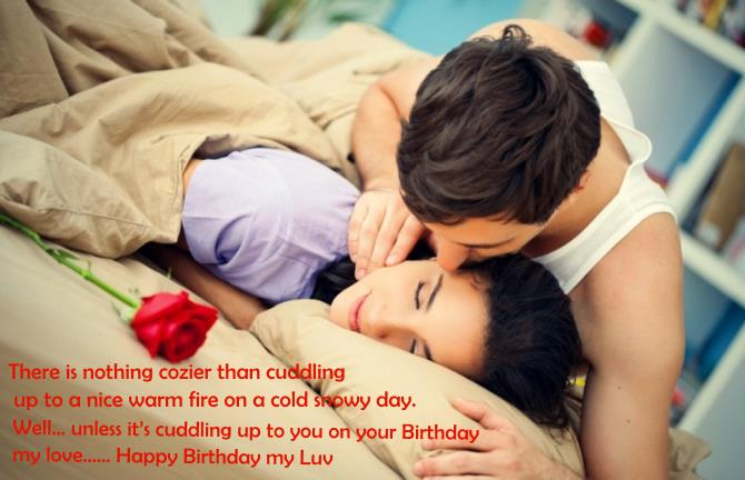 Romantic couple Birthday Wishes and quotes wallpaper