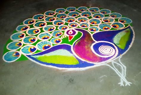 Another preety Rangoli by Taanya Rathor