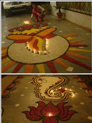 Big Rangoli Designs Flower