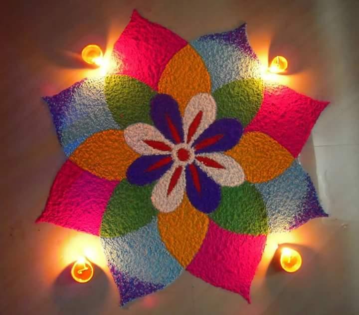 Colorful Beautiful Rangoli Design