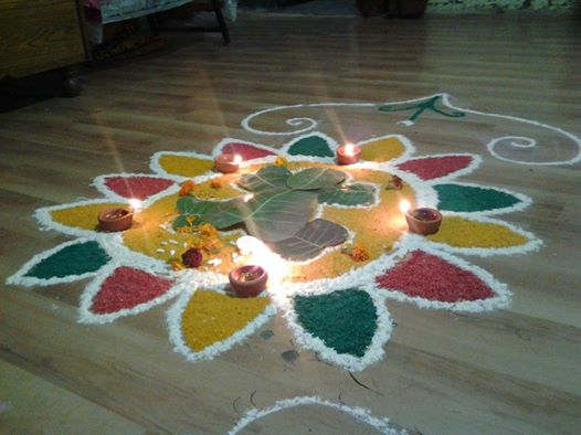 Colorful Rangoli Design For Festival