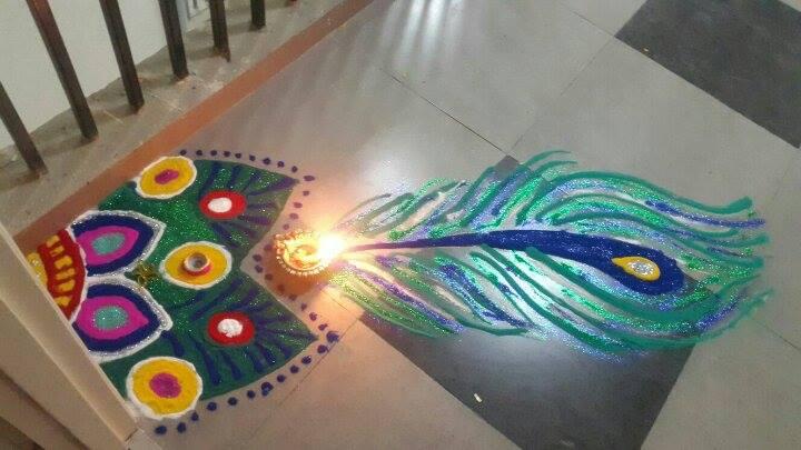 Colorful Rangoli Design by Priya Batra