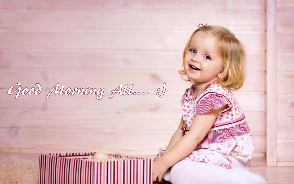 Cute baby Wishing Good Morning Pictures