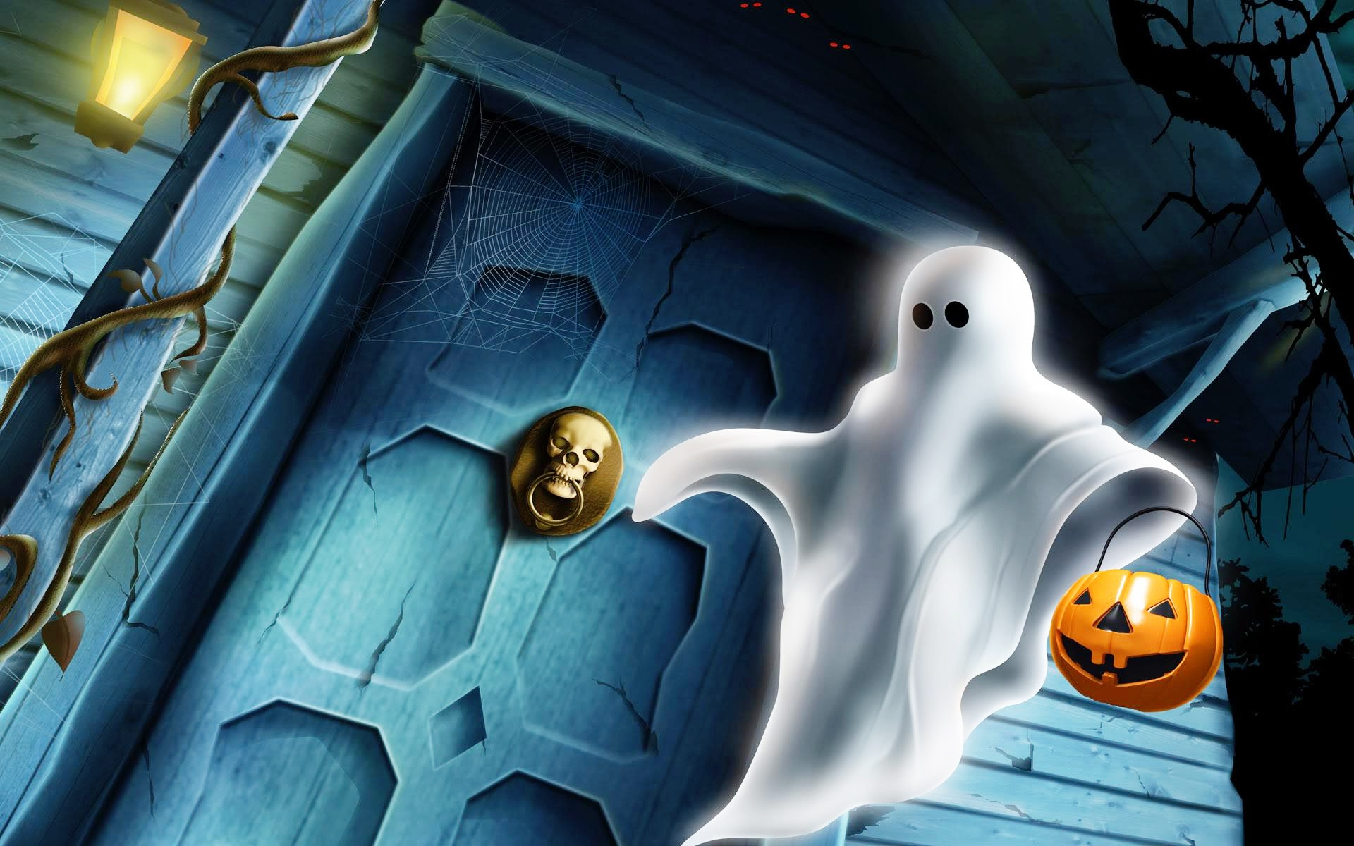 Scary Ghost Wallpaper for Halloween free download