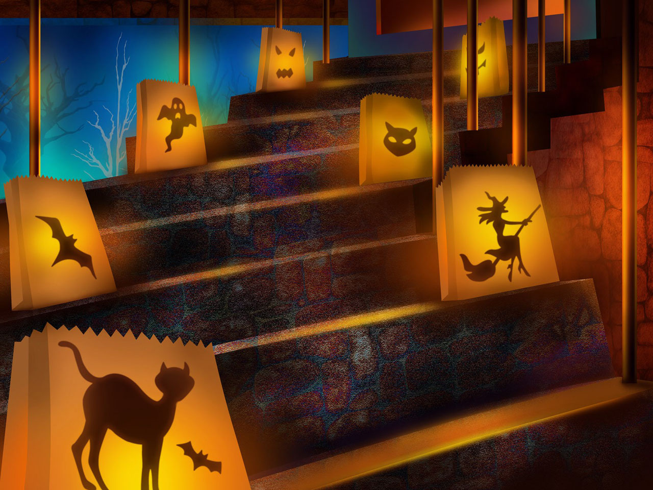 Halloween party HD wallpapers