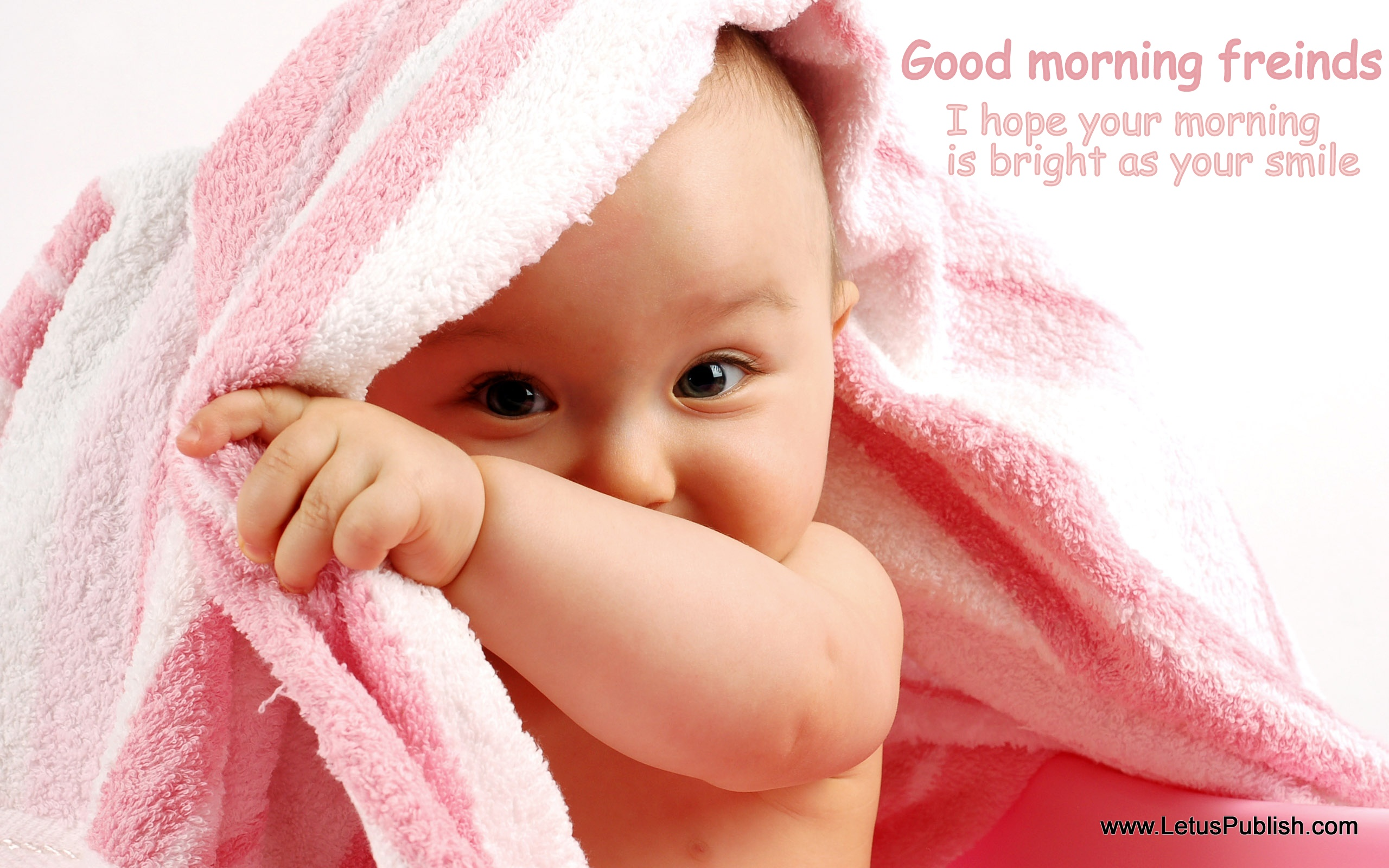 Little baby morning wallpaper with quotes