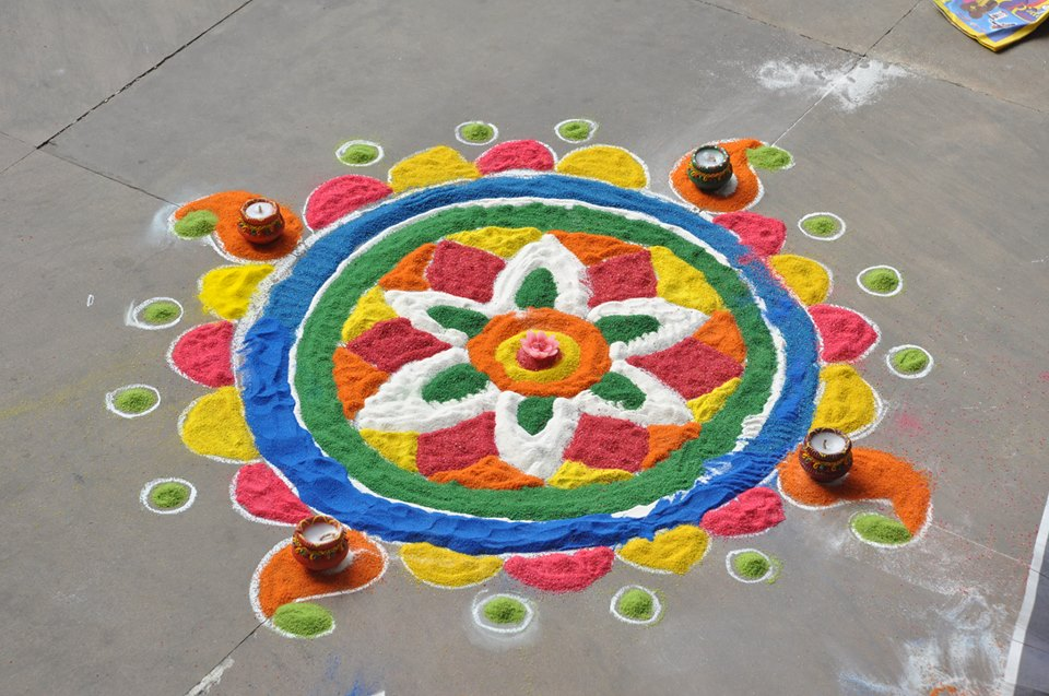 Multi Color Rangoli By Stuti Agarwal