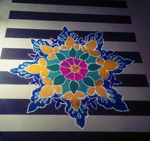 Rangoli Deisgn for offices By Rahul