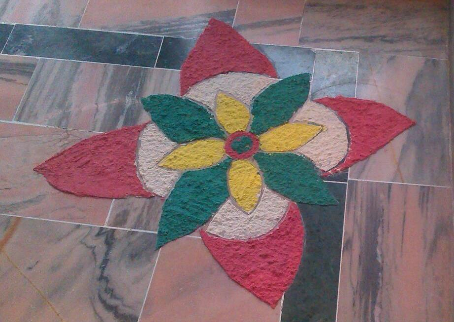 Rangoli Design created by Prince & Raj