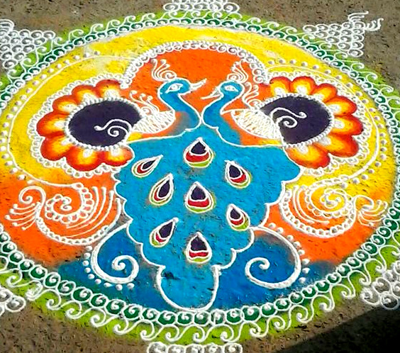Rangoli Design for Big Fucntions