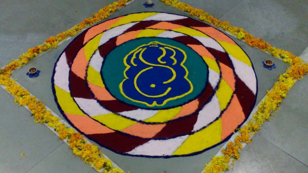 Rangoli Design for offices by Unknown