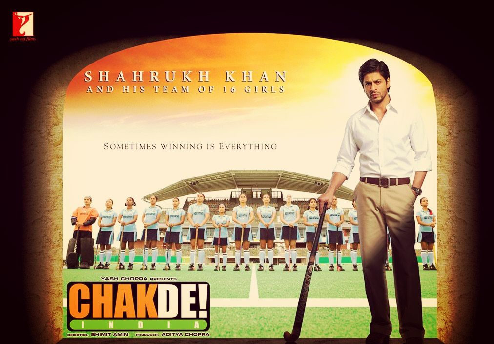 Shahrukh Khan hit and flop movies list - Chak De Movie poster