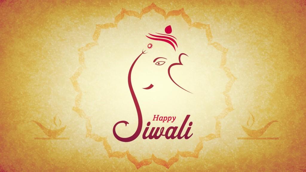 Shree Ganesh Happy Diwali HD Wallpaper free Download
