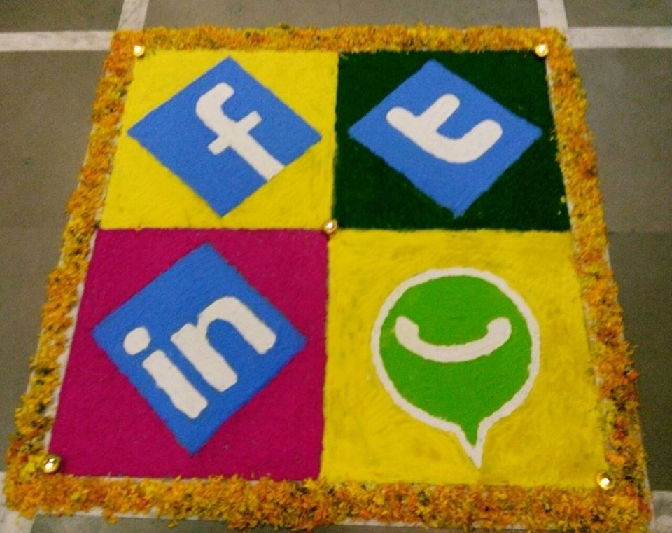 Simle yet adrobale Social Media Rangoli Design by Junaid and Geetika