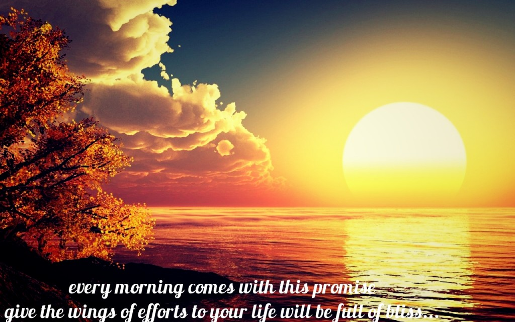 Sun Rise Wallpaper with Sayings