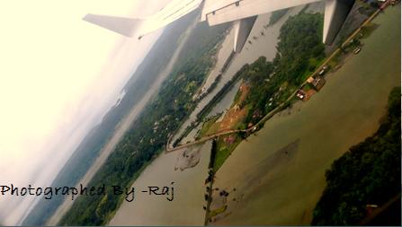 View of Anadaman while landing