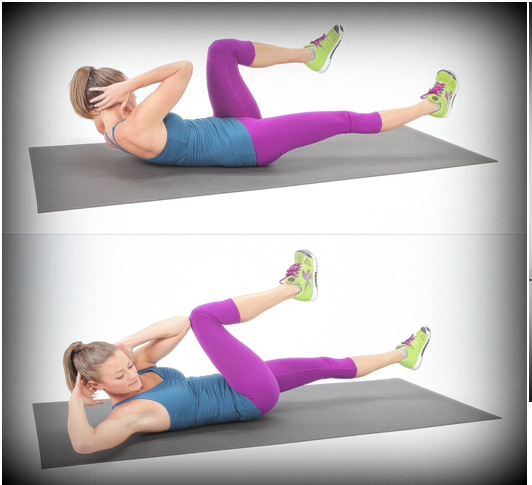 Bicycle crunches To Get Six Pack Abs