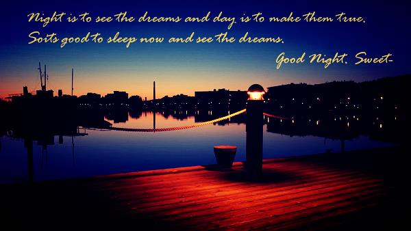 Good Night Quotes & Messages HD Wallpapers Download