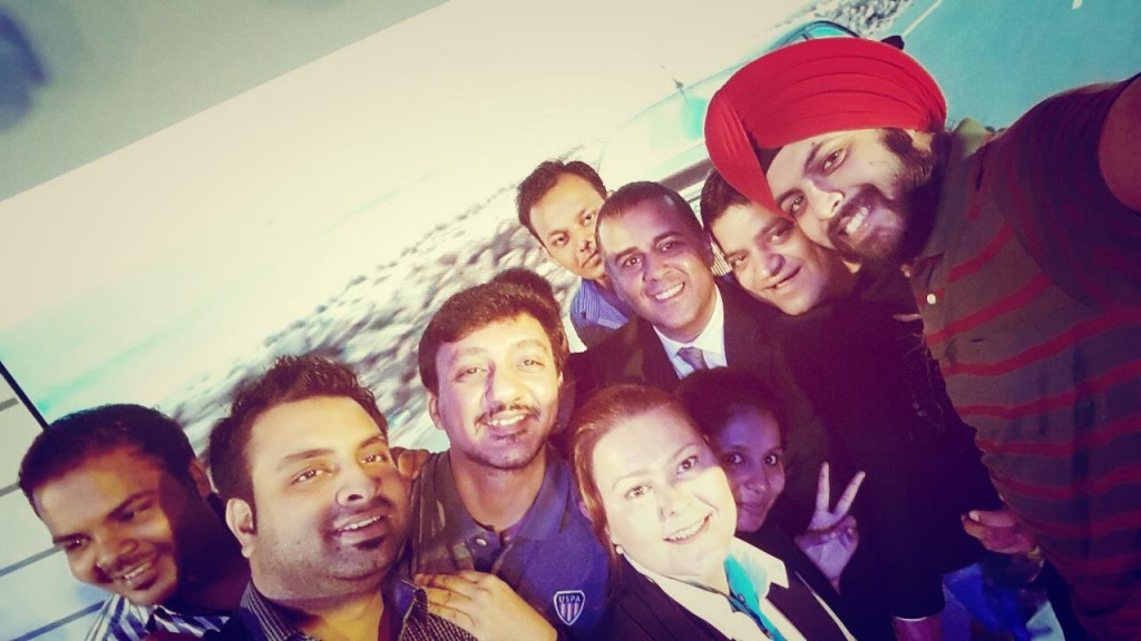 Selfie Session With Chetan and fellow bloggers