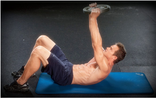 Weighted Crunch to get sixpack abs
