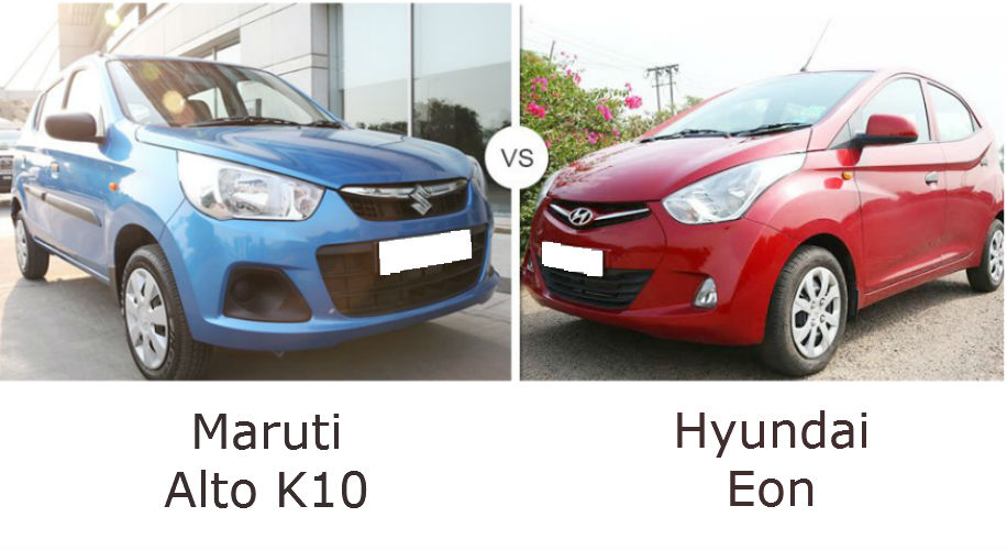 Maruti Alto K10 and Hyundai Eon