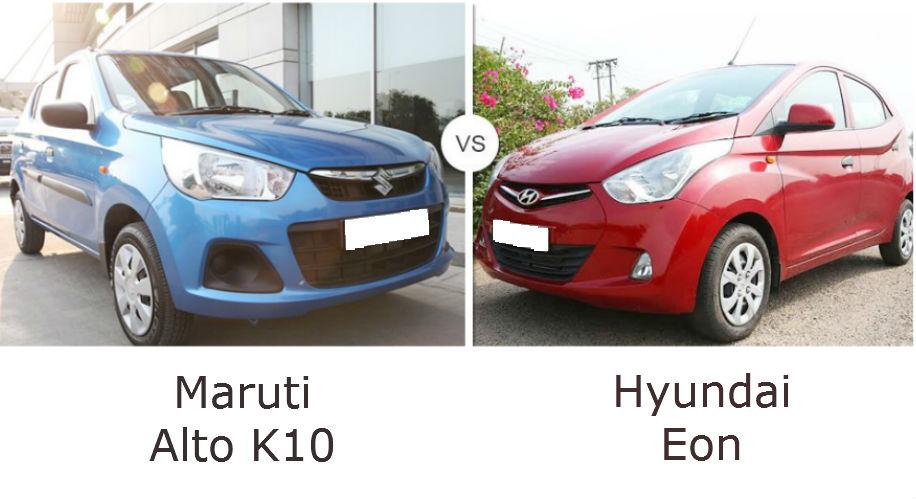 Maruti Alto K10 and Hyundai Eon