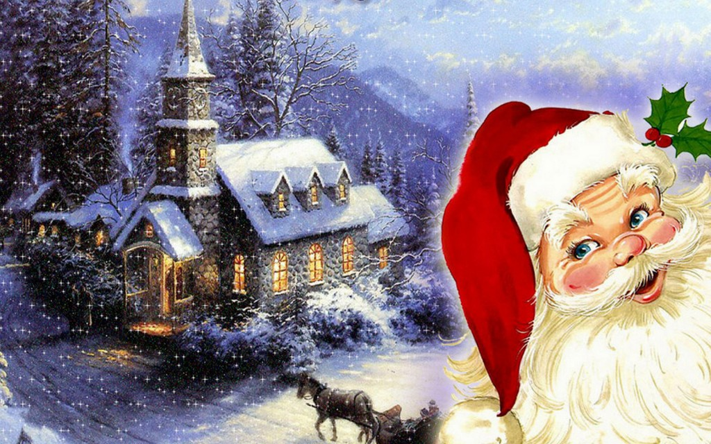 Merry Christmas to santa claus HD 2014 Wallpaper