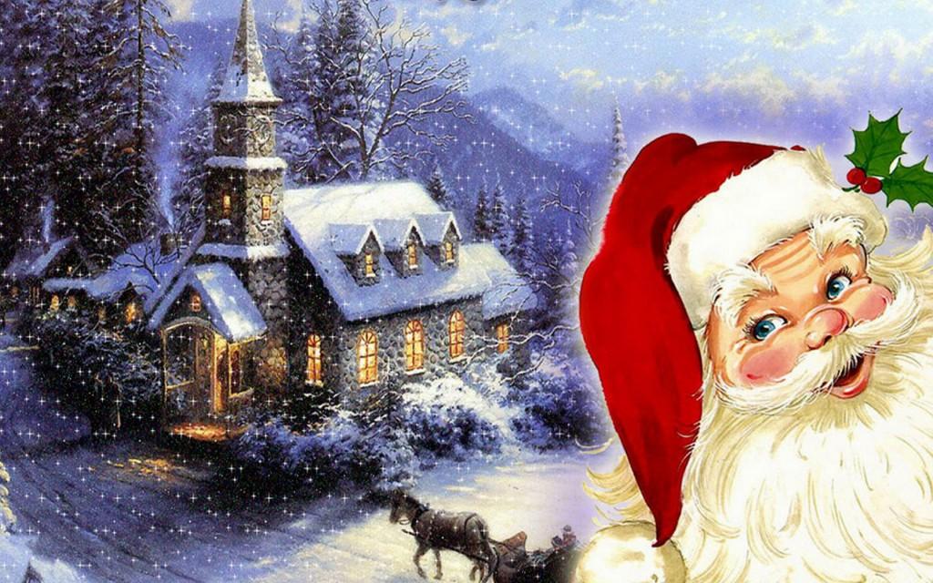 Merry Christmas to santa claus HD 2014 Wallpaper