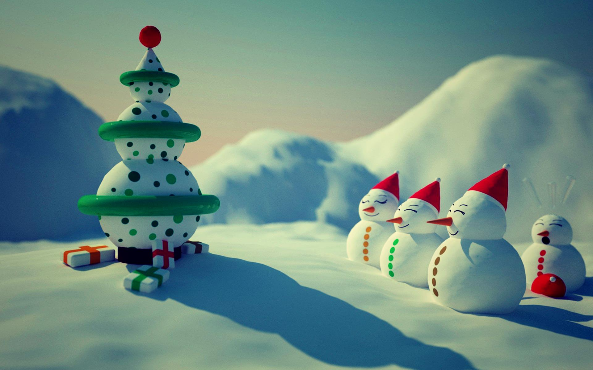 snowman merry christmas hd wallpapers free