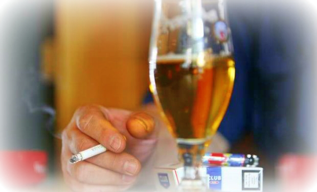 Resolution to quit smoking and drinking