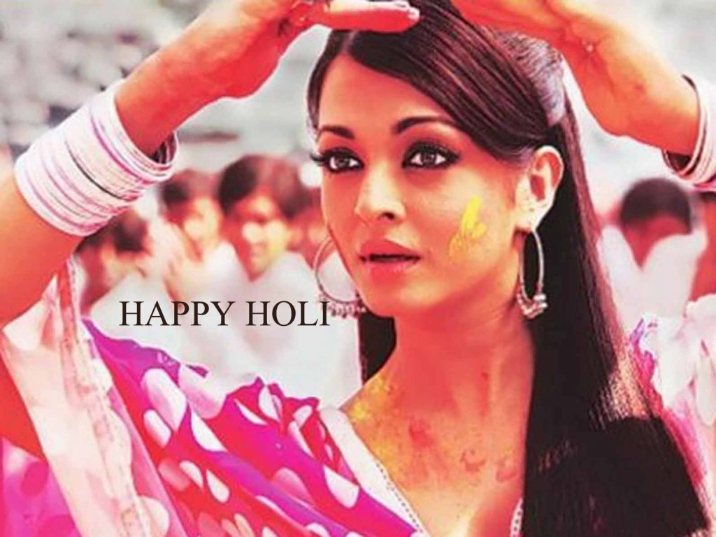Colorful Holi Wallpaper Aishwarya Rai