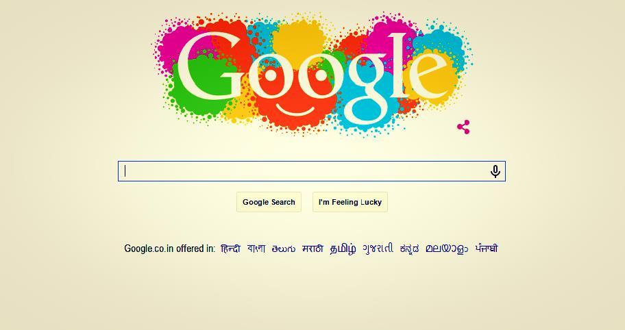 Happy Holi Google Doodle 2015