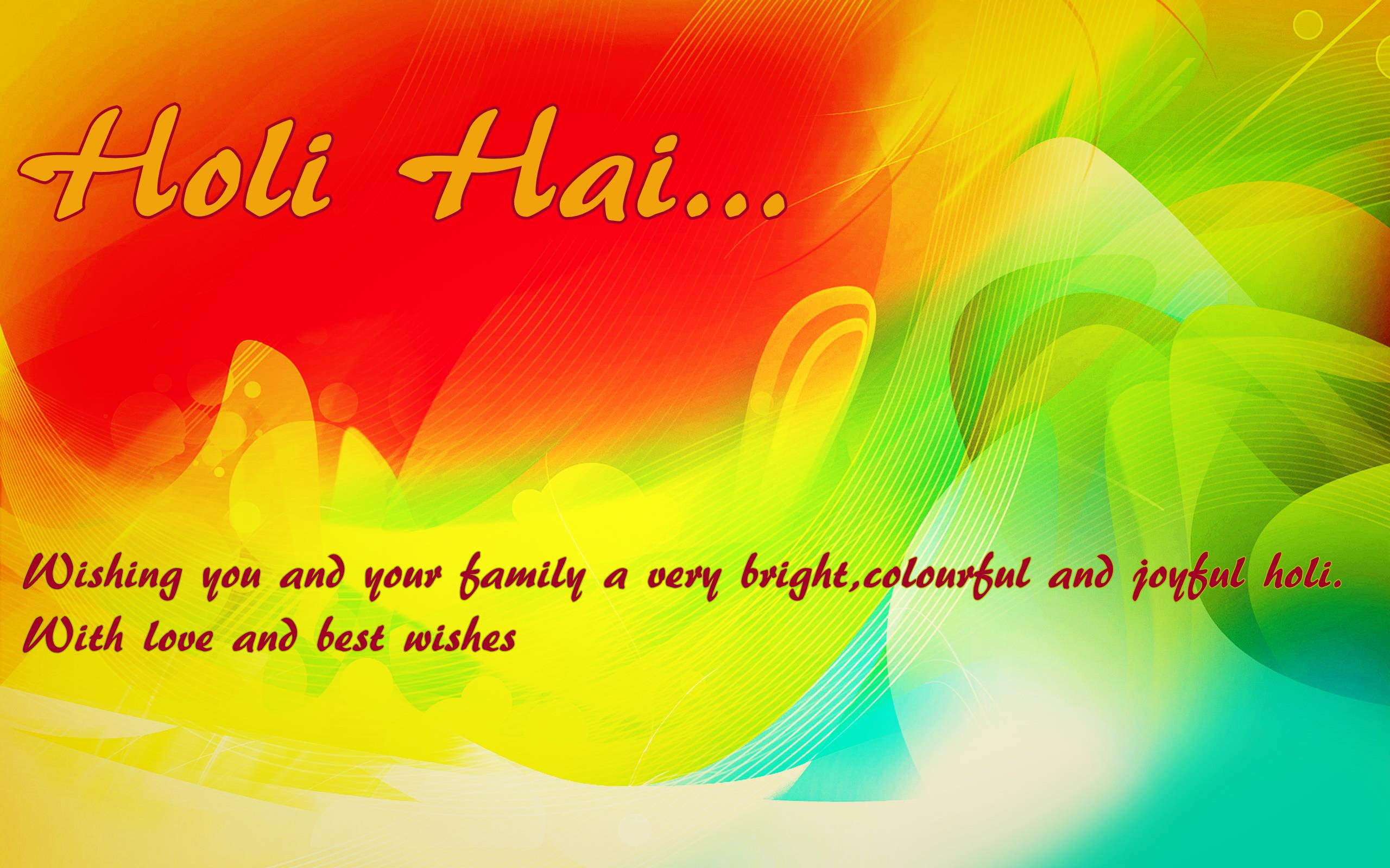 Happy Holi Messages Wallpaper Download Free
