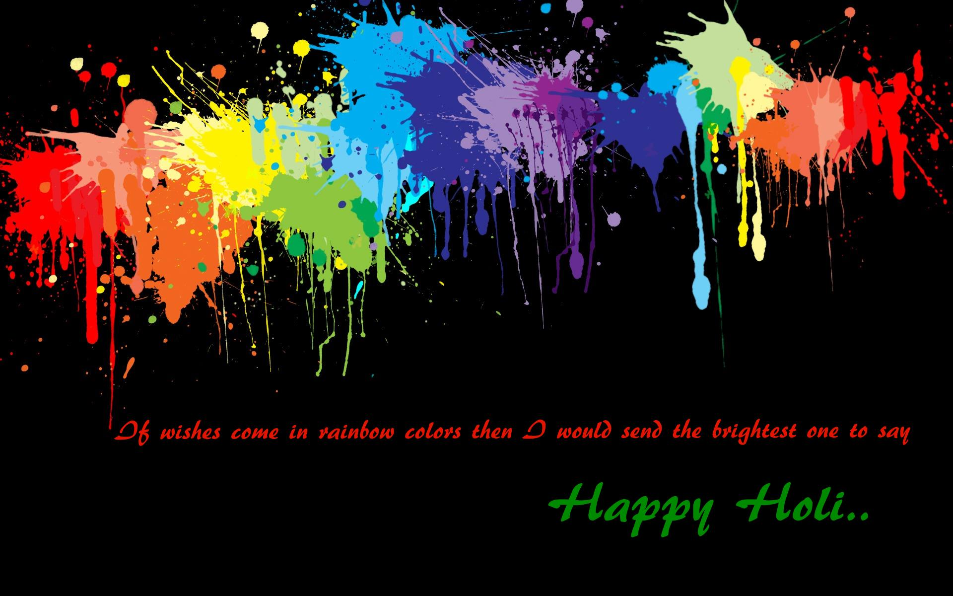 Happy Holi Wishes Desktop Wallpaper