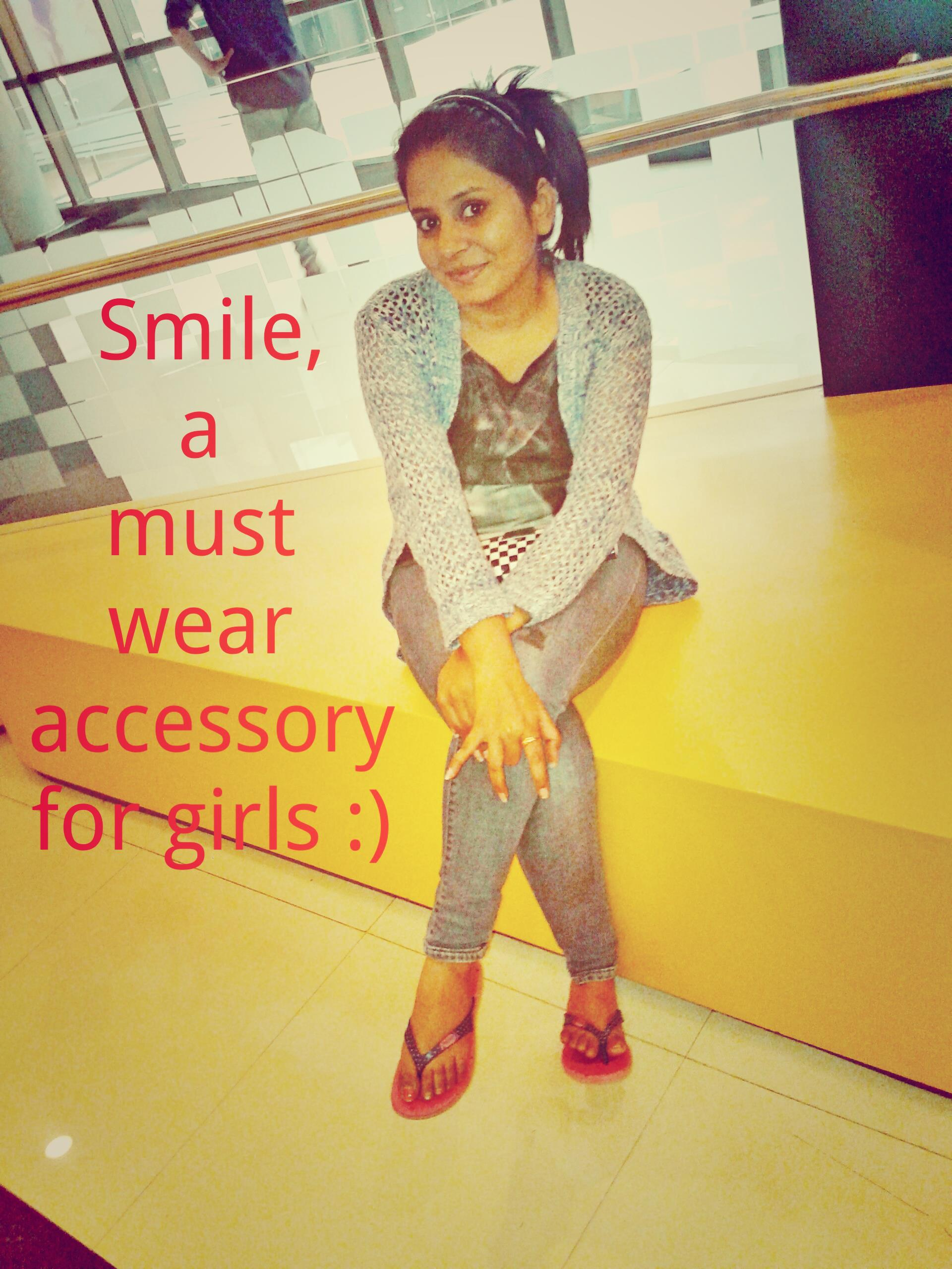 Smile, Must Wear Accessory for girls, Quotes tumblr
