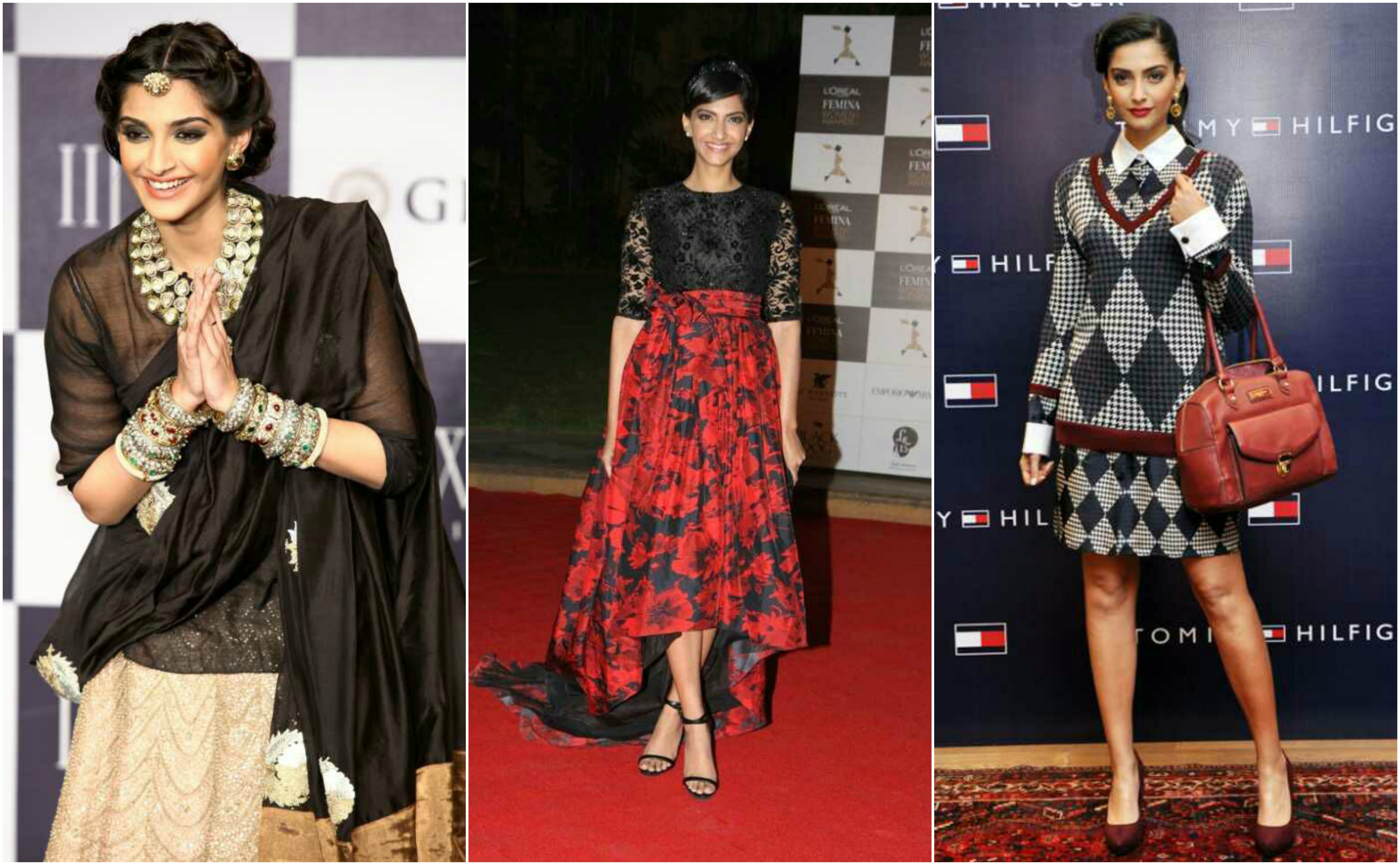 Collage of Sonam kapoor images