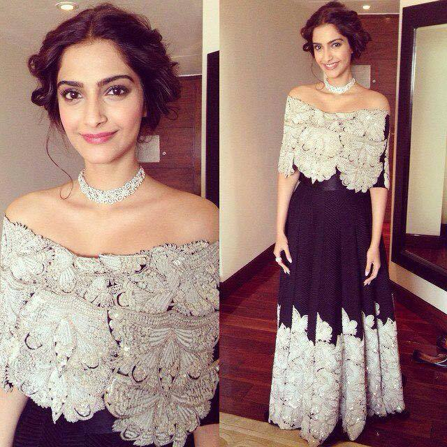 Sonam in ANamika khanna Dress