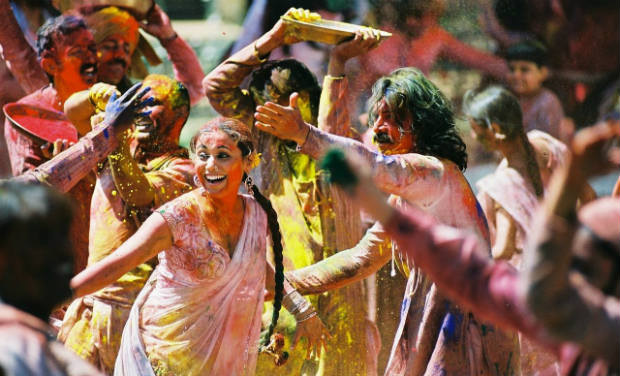 Mangal Pandey playing in Holi