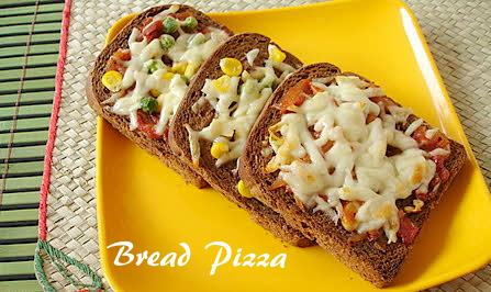 Breakfast Bread-Pizza