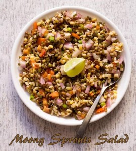 Breakfast Moong Sprouts Salad